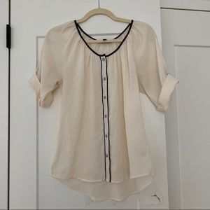 Off-White Blouse with Buttons